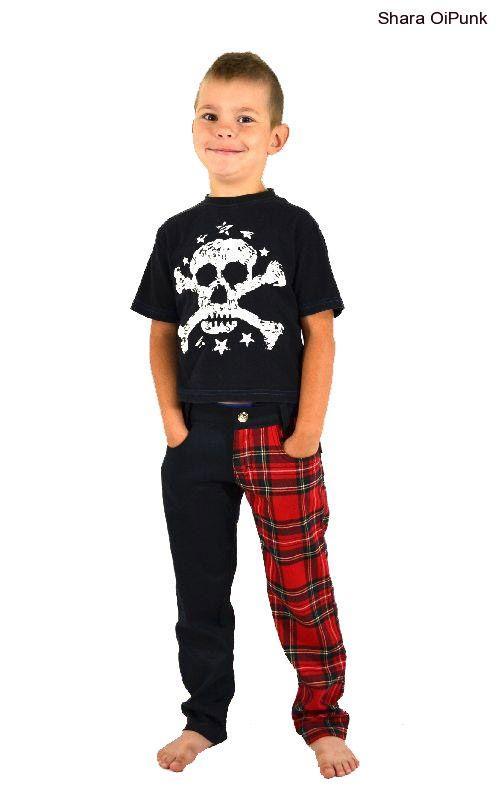 64bdba8af20 Punk kalhoty dětské