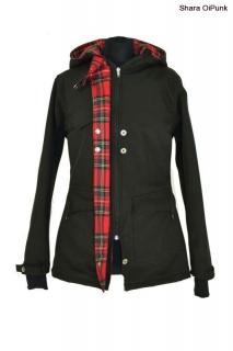 Punk softshellová jarní podzimní bunda - červená kostka empty d4435c3044a
